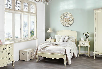 BEDROOM FURNITURE SET Shabby French Chic Cream~ WARDROBE ~ DRAWERS & BEDSIDES