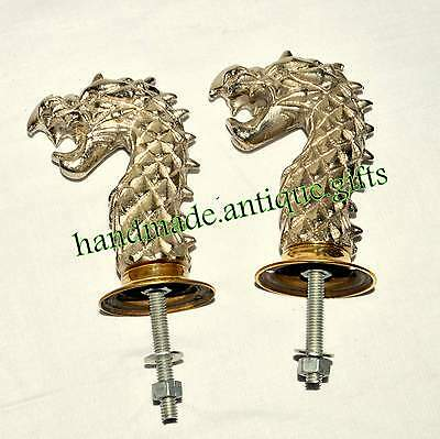 Antique Solid Metal Dragon Style Retro Handmade Door Handle Knoob