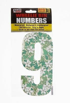 Big Value 3 Pack Wheelie Bin Numbers WaterProof Self Adhesive