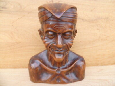 Antique Old Very Large Size Timber Hand Carved Statue Of A Man, (B345)