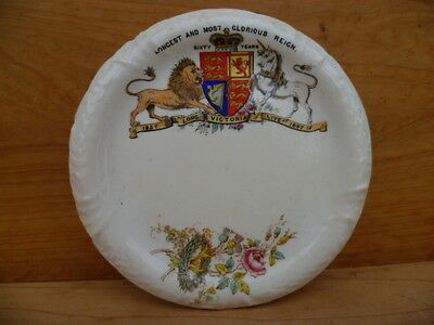 ANTIQUE OLD QUEEN VICTORIA 1800's CHINA PLATTER (B357)