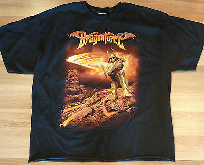 Used Dragonforce 2006 Fiery Knight Tour Concert T-Shirt Adult Medium