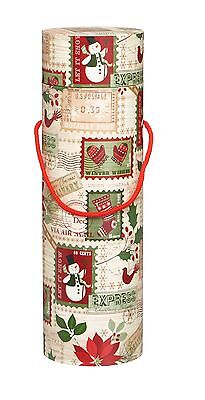 Christmas Bottle Box - Christmas Stamps - Wine Box - Gifts - Drink Gifts -GBB031
