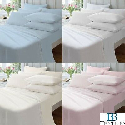 Catherine Lansfield Plain Dyed 100% Brushed Cotton Flannelette Fitted Flat Sheet