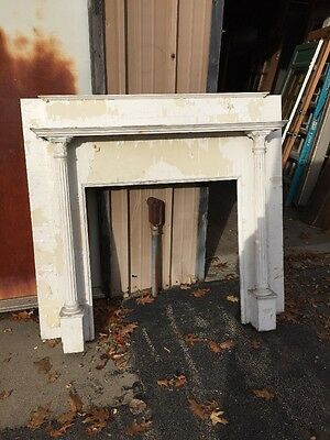 Cm 99 Antique Painted Half Size Fireplace Mantle