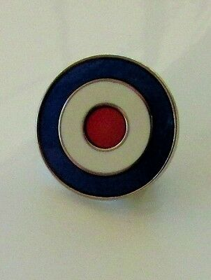 Mod Roundel Red White Blue Quality Hard Enamel Brooch Pin Badge Scooter Rally