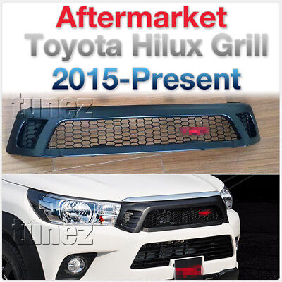 NEW Front Matt Black Grill Grille For Toyota Hilux SR SR5 2015 2016 2017 TRD TU