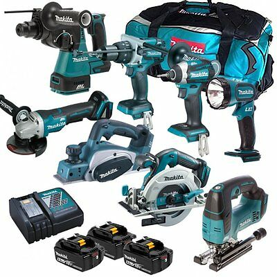 Makita 18V 6.0Ah Li-Ion Lxt Brushless 8 Piece Combo Kit