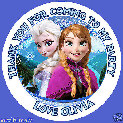 Personalised frozen birthday stickers party bag thank you 005