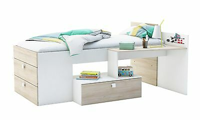 funktionsbett inkl schubladen regal jugendbett kinderbett bett kinderzimmer eur 333 30. Black Bedroom Furniture Sets. Home Design Ideas