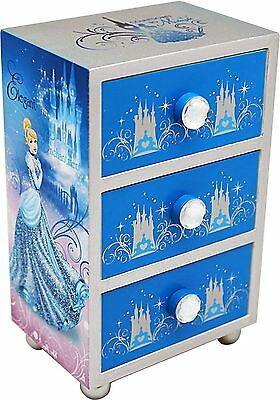 "Joy Toy ""Cinderella"" Jewelery Boxes with 3 Wooden Drawers (Multi-Colour)"