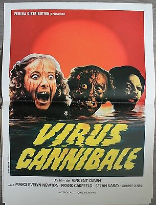 VIRUS CANNIBALE Movie Poster Affiche Cinéma Margit Evelyn Newton 53x40