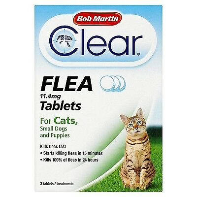 Bob Martin Flea Tablets for Cats and Small Dog Under 11 Kg 3 Tablets