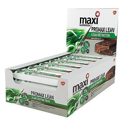 MaxiNutrition Promax Lean Lean Definition Bars - Dark Chocolate 60 g Box of 12