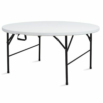 Table ronde pliante 150 cm - 8 places - Camping buffet appoint réception NEUF
