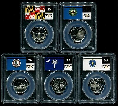 2000 S Silver State Quarter 5 Coin Proof Set PCGS PR69 DCAM 25C New Holders!