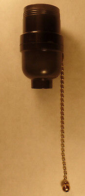 New Leviton Pull Chain Bakelite Socket With Uno Threaded Shell Lamp Part So262