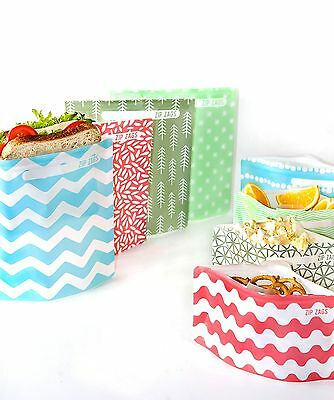 Reusable sandwich & snack bags 16 piece kit - BPA free, lunch, pouch, resealable