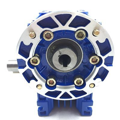 040 Ratio 63B14 100:1 Worm Gear Speed Reducer 11mm 1400r/min for Stepper Motor