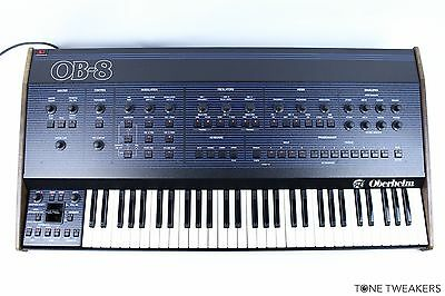 OBERHEIM OB-8 METICULOUSLY OVERHAULED Vintage Analog Synthesizer Synth Keyboard