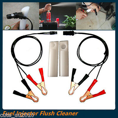 Cars Fuel Injector Flush Cleaner Adapter DIY Vehicle Clean Tools Kit Universal