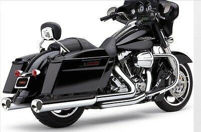 COBRA 6212 Tri-Flo Oval CHROME SLIP-ON MUFFLERS Harley Street Glide Road King