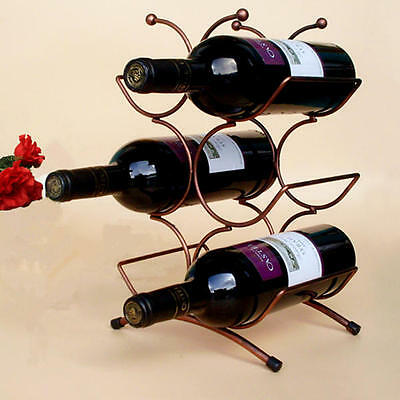 6 Wine Bottles Chrome Holder Storage and Display Stand