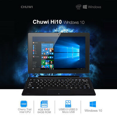 "CHUWI Hi10 10.1"" Tablet PC Windows 10+Android 5.1 64GB+4 Ultrabook 2xCámara HDMI"