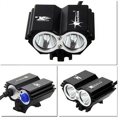 5000LM 2x CREE XML T6 LED Front luz bicicleta Bicycle Bici Foco Light HeadLamp