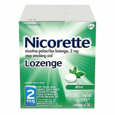 Nicorette Lozenges Nicotine Mint, 2 mg 144 Count, Free Shipping