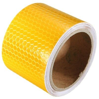 3mX50mm Yellow Reflective Safety Warning Conspicuity Tape Film Sticker