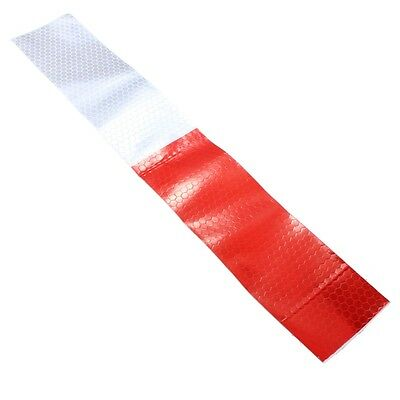 30X4.6cm DIY Red White Reflective Safety Warning Conspicuity Tape Film Sticker