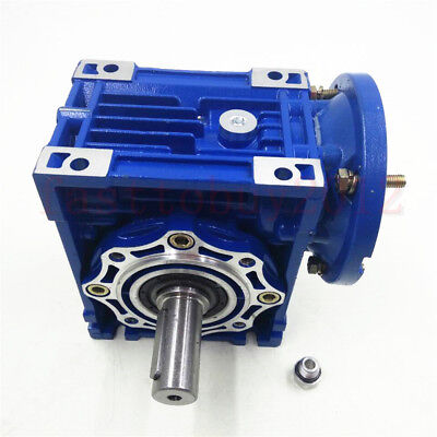 NMRV063 Speed Reducer Worm Gear Reducer 24mm Ratio 100:1 90B14 for Stepper Motor