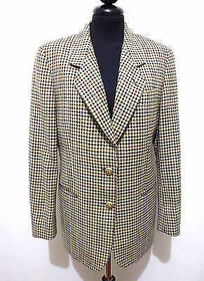 BURBERRY'S VINTAGE '80 Giacca Donna Lana Piedipull Wool Woman Jacket Sz.M - 44
