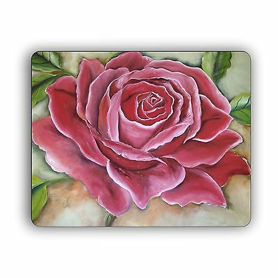 Computer Mouse Pad Pink Rose Desktop PC Mousepad