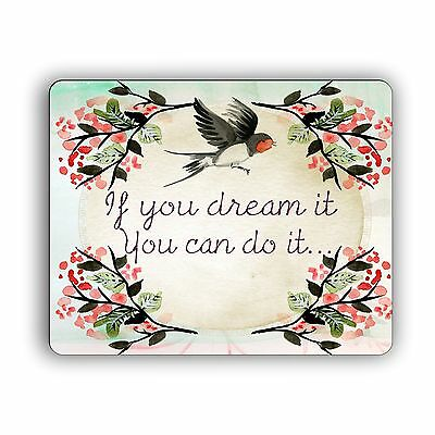 Inspirational Quote Computer Mouse Pad Desktop PC Mousepad