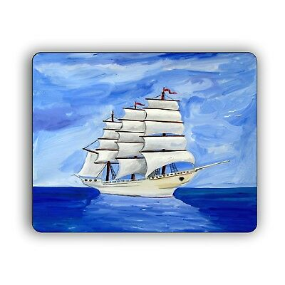 Sailing Ship Art Print Computer Mouse Pad  Boat Desktop PC Mousepad