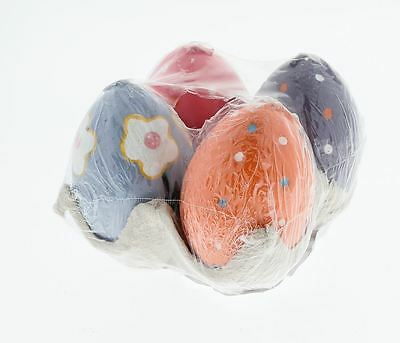 4 Easter Mini Egg Candles - Purple/Pink/Orange
