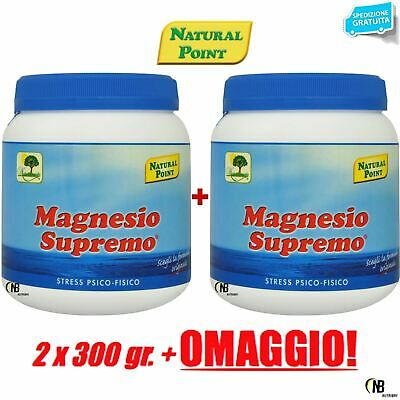 Magnesio Supremo NATURAL POINT 2 x 300 gr Antistress Psico Fisico Energizzante