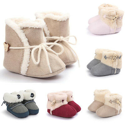 Baby Girl Boy Soft Sole Boots Snow Boots Toddler Infants Newborn Crib Shoes Lot