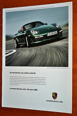 French 2009 Porsche Boxster Canadian Ad / Sports Car Auto