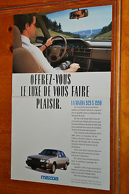 French 1990 Mazda 929 S Canadian Ad - Retro Luxury 1990S