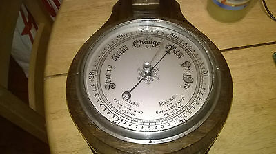 "Vintage Large Aneroid Barometer with Thermometer 30"" tall"