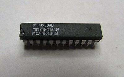 FAIRCHILD MM74HC154N IC Integrated Circuit 24Pin - Lot of 30 Pieces NEW NOS