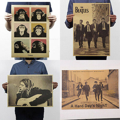 New Rock Bands Wall Poster Retro Vintage Style Kraft Paper Decor Gifts