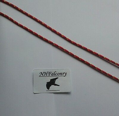 Falconry Paracord Flying Jesses red blue All Sizes Available Quality