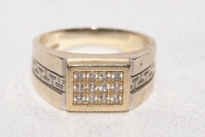 Vintage 14 Karat / 585er Gold Damen - Ring mit 12 Brillanten