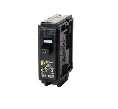 Square D HOM120CP Homeline Single Pole Circuit Breaker, 20Amp