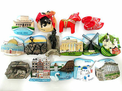 New Tourist Intorno Magnet mondo ricordino resina ceramica regalo Europe 1 IT