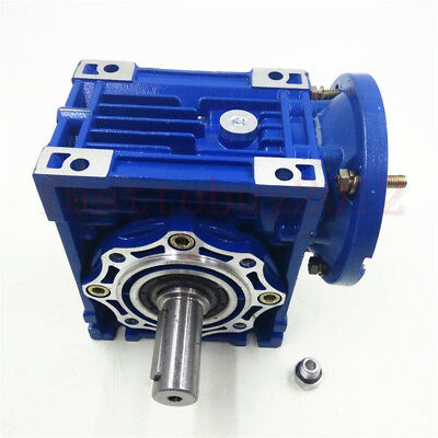 050 Worm Gear Speed Reducer 19mm 80B14 Ratio 10/15/20/25/30/40/50/60/80/100: 1
